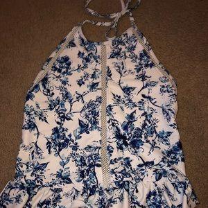 Women's ruffle one piece swim suit